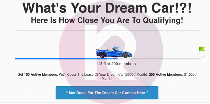 clickfunnels dream car winner screenshot proof