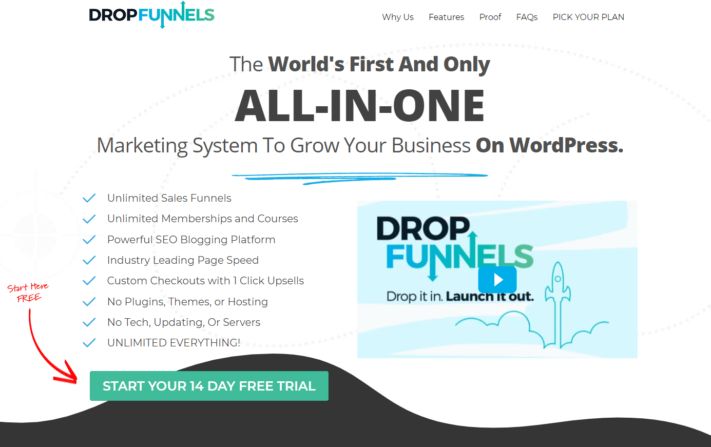 Dropfunnels Homepage Screenshot